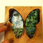 Inspired by French impressionist artists. Miniature Painting by Mexican artist Cristiam Ramos
