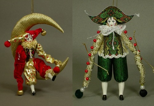 Souvenir doll 'Clown'. Author AI Dubrovina