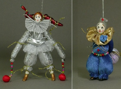 Wonderful Souvenir dolls 'Clown'. Author AI Dubrovina