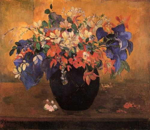 Paul Gauguin flowers. Vase with Flowers, 1896