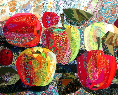 Apples. Valentina Maximova Textile collage