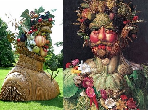 Arcimboldo inspired sculptures by Philip Haas