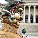 Vegetable Arcimboldo inspired sculpture by Philip Haas