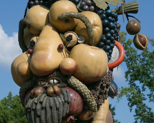 Arcimboldo inspired sculpture of Autumn by Philip Haas