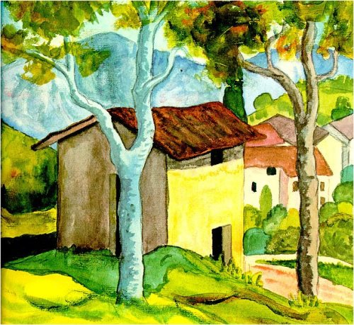 Hermann Hesse landscape watercolors