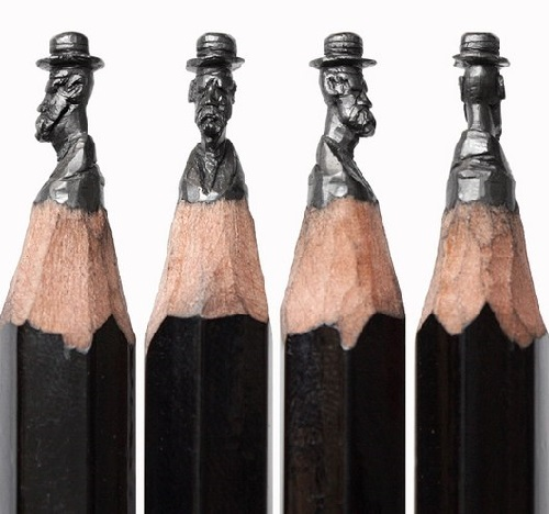 Carving on the tip of a pencil