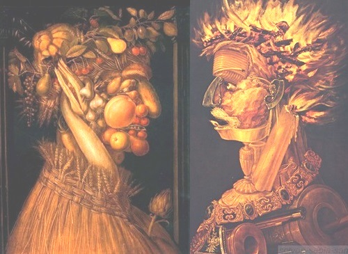 Forgotten genius Giuseppe Arcimboldo. Dialogue of the Seasons and the Elements - 'Summer - Fire'