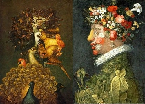 Forgotten genius Giuseppe Arcimboldo. Dialogue of the seasons and the Elements 'Air - Spring'
