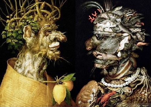 Forgotten genius Giuseppe Arcimboldo. Dialogue of the seasons and the Elements 'Winter - Water'