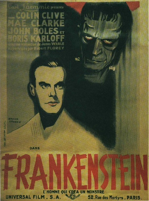 Frankenstein 1931 horror monster film. Universal Pictures. Directed by James Whale