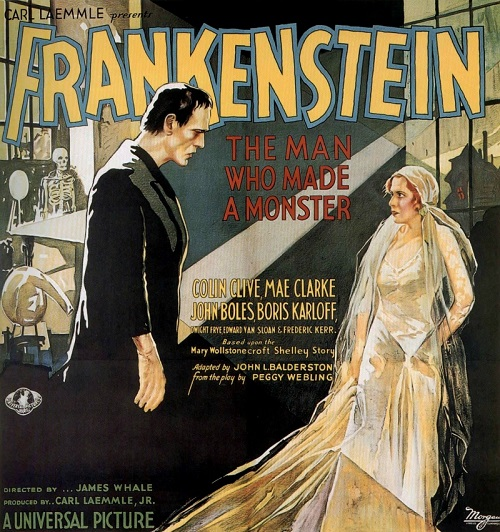 Frankenstein. 1931 horror monster film poster