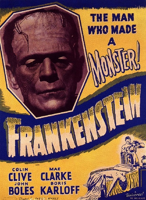 Frankenstein. 1931 horror monster film. Universal Pictures. Director James Whale
