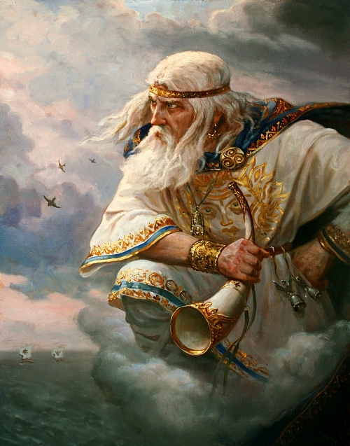 God of wind. Painting by Russian artist Andrey Shishkin