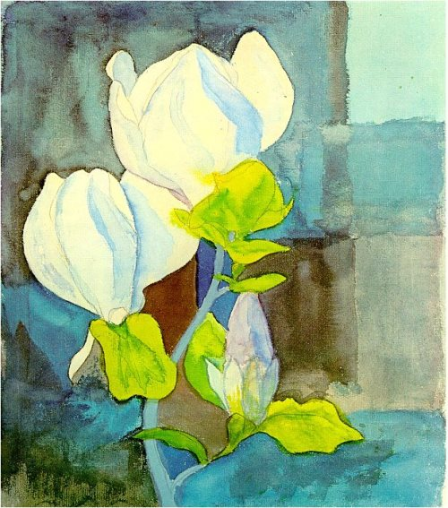 Hermann Hesse landscape watercolors. Magnolia