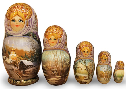 Matryoshka 'Winter Landscape'