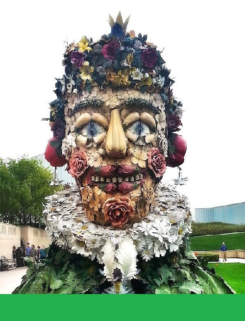 Monumental Arcimboldo sculptures by Philip Haas