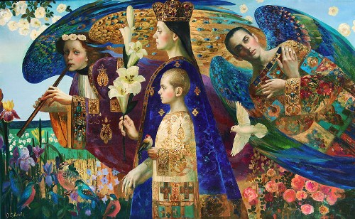World creation. Oil, canvas, 2011. Painting by Olga St. Petersburg based artist Olga Suvorova