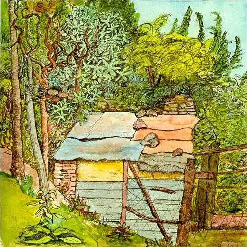 Hermann Hesse landscape watercolors. Rabbit hutch