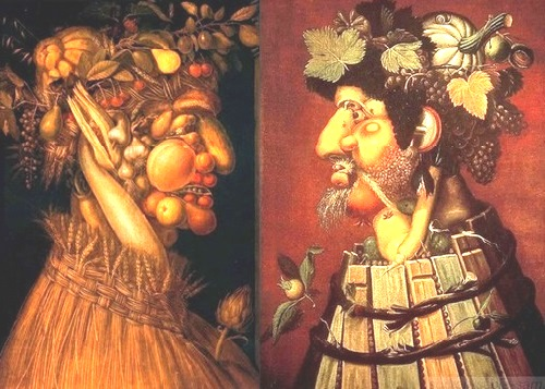 Forgotten genius Giuseppe Arcimboldo. Seasons - Summer - Autumn