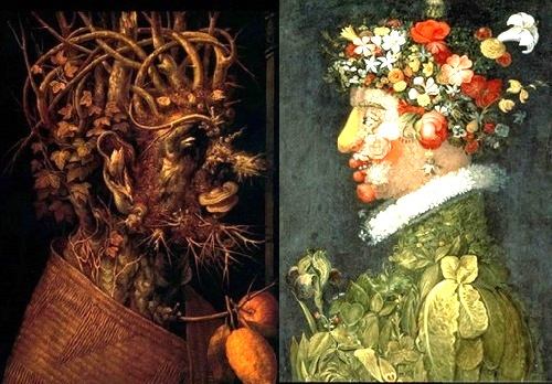 Forgotten genius Giuseppe Arcimboldo. Seasons - Winter - Spring