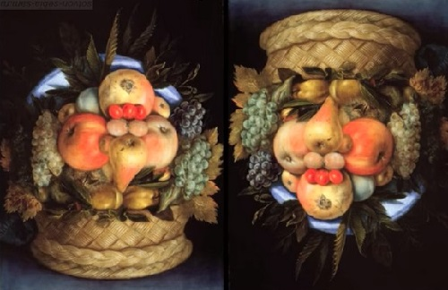 Forgotten genius Giuseppe Arcimboldo. Series 'Shifters' - 'Fruit Basket'