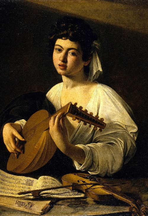 Symbols of Lute Player by Caravaggio. The Lute Player