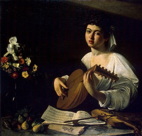 Symbols of Lute Player by Caravaggio