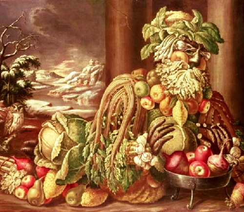 Forgotten genius Giuseppe Arcimboldo. Winter