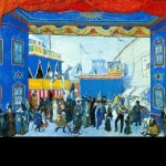Alexander Benois. The Fair. Set design for Stravinsky's Petrouchka (Diaghilev Company). 1911. Watercolor and gouache heightened with white on paper. Bolshoi Theater Museum, Moscow