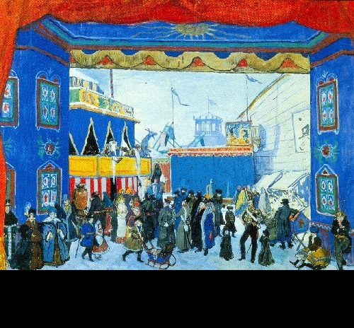 Alexander Benois. The Fair. Set design for Stravinsky's Petrouchka (Diaghilev Company). 1911. World of Art movement for theater