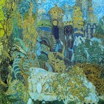 Kashchei's Kingdom. Set design by Alexander Golovin for Stravinsky's The Firebird. 1910. Watercolor, gouache, and bronze paint on paper. Tretyakov Gallery, Moscow