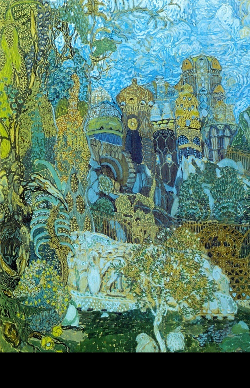 Alexander Golovin. Kashchei's Kingdom. Set design for Stravinsky's The Firebird. 1910. World of Art movement for theater