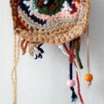 An eye. Crochet painting