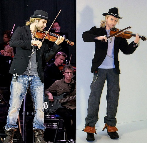 David Garrett doll. Work by Yekaterinburg based artist of applied art Larisa Isayeva