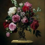 Fine art painting by Pieter Wagemans. Still life with flowers