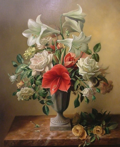 Flowers. Still life painting by Pieter Wagemans