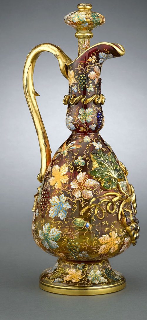 Decorated with floral patterns Moser Glass Crystal