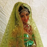 Amazing Indian doll. Work by Russian artist of applied art Larisa Isayeva