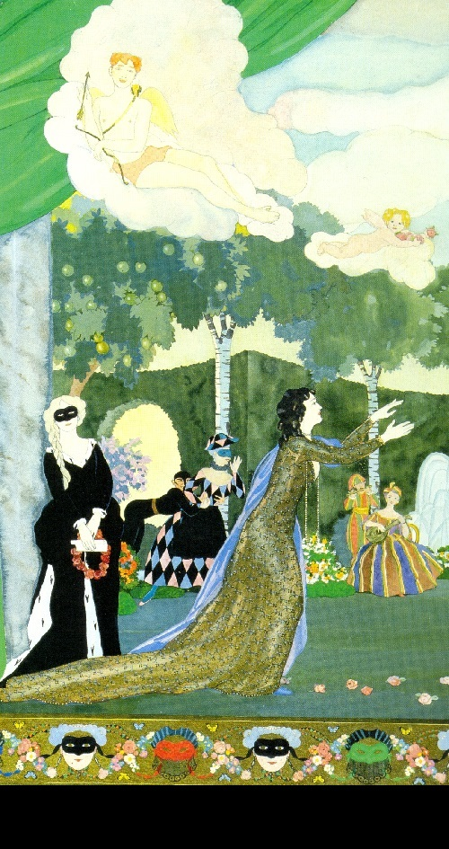 Konstantin Somov. Curtain design for Moscow's Free Theater. 1913. World of Art movement for theater