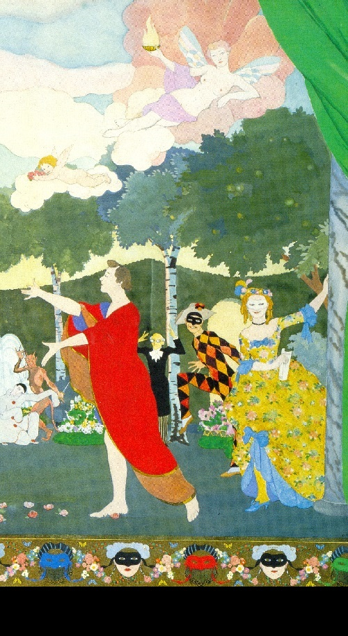Konstantin Somov. Curtain design for Moscow's Free Theater. 1913
