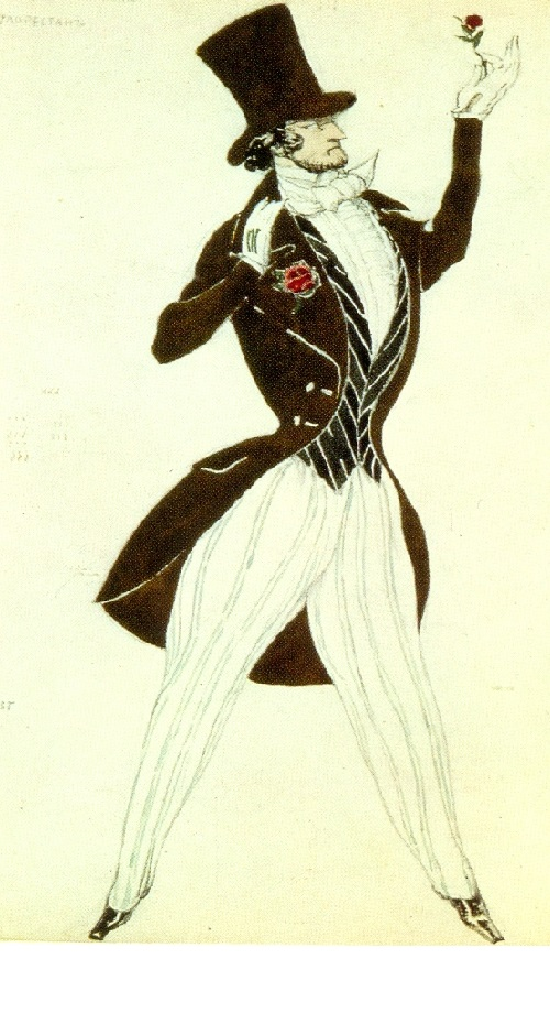 Leon Bakst. Costume design for Florestan in Schumann's Le Carnaval (Diaghilev Company). 1910. World of Art movement for theater