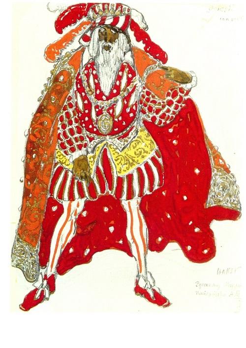 Leon Bakst. Costume design for Richard Strauss' Le Legende de Joseph (Diaghilev Company). 1914. World of Art movement for theater