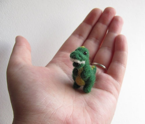 Dinosaur. Felted toy by Russian craftswoman Vera Megorskaya