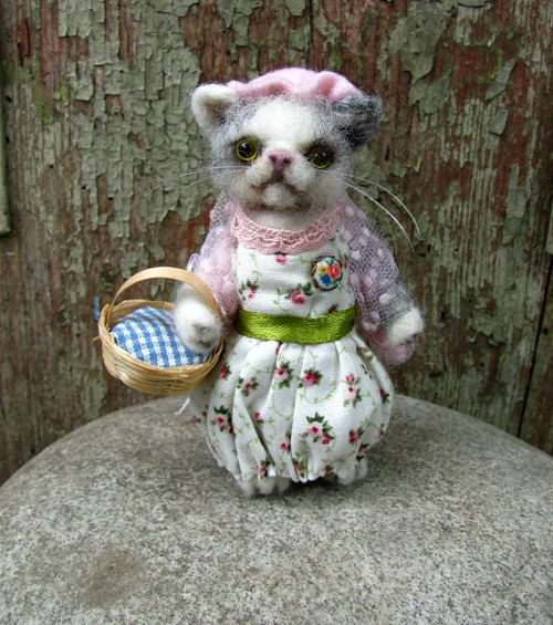 Lady Cat Mrs. Tabitha Twitchit, inspired by Beatrix Potter books