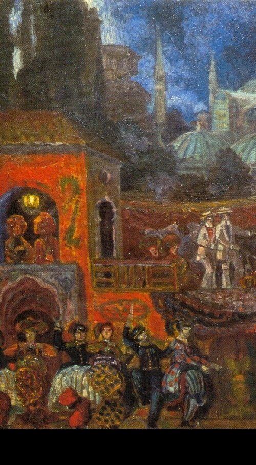 Kuzmin's Amusements for Virgins (detail) Set design by Sergei Sudelkin