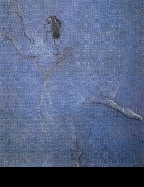 Valentin Serov. Anna Pavlova in Les Sylphides. 1909. World of Art movement for theater