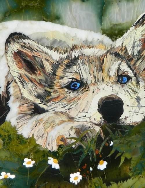 Wolf closeup. Ural House Masters Florentine mosaics