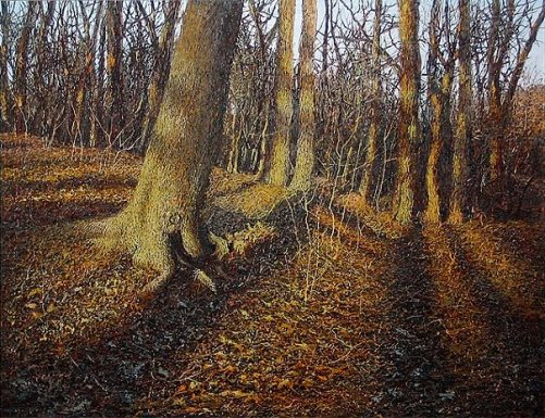Autumn in the Botanic Garden 2004. Painting by Ukrainian artist Ivan Marchuk
