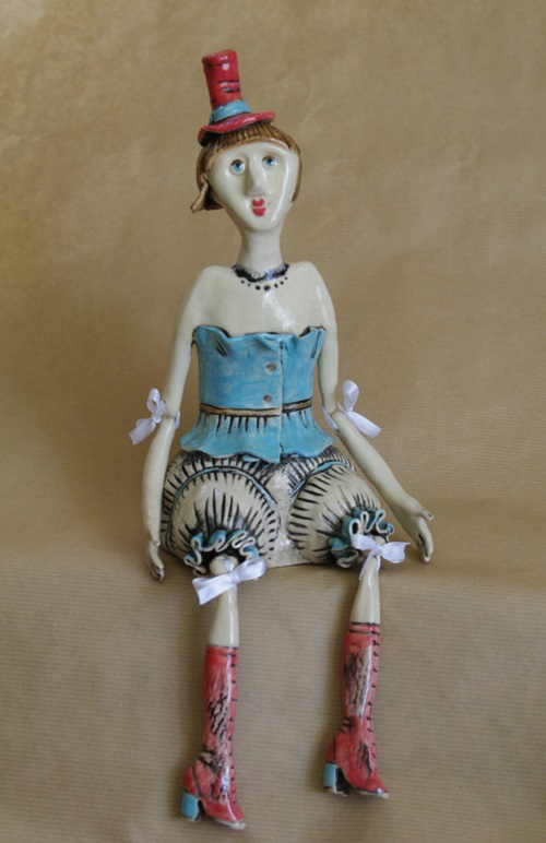 Ceramic Doll Claire. Author's work. One of a kind