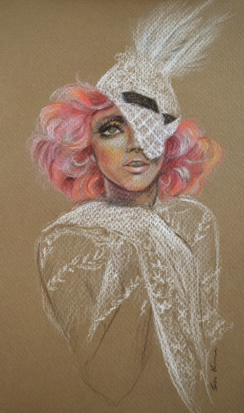 Lady Gaga - Original Colored Pencil Drawing